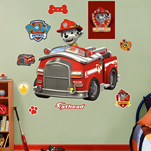 (FATHEAD Marshall's Fire Truck Real)