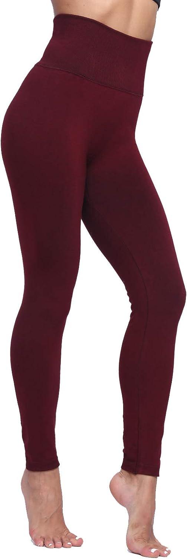 LUOYANXI High Waist Tummy Control Leggings for Women Winter Warm Fleece Lined Seamless Thick Pants