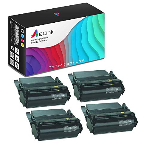 - ABCink Compatible Toner Cartridge Replacements for Lexmark 1382625,for use in Lexmark 4059,1200,1250,1650,2450,17600 Yields(4 Pack,Black)