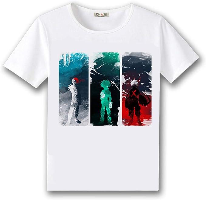 Boku No Hero Academia My Hero Academia Crewneck T Shirt Short Sleeve Tee Cosplay Unisex Anime Clothing Amazon Com