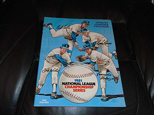1981 MONTREAL EXPOS AT LOS ANGELES DODGERS NLCS PLAYOFF BASEBALL PROGRAM EX (1981 Montreal Expos)
