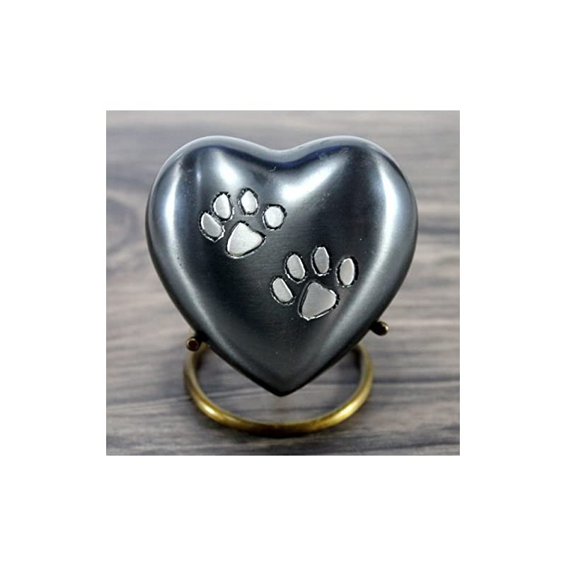 dog supplies online esplanade heart shaped pet cremation urn memorial container jar pot | brass urns| metal urns| burial urns| memorial keepsake| urns for pets, dogs, cats