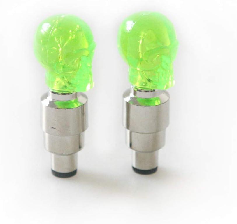 Set of 2/Winomo LED Bike Valve Caps Light for Car Motorcycle