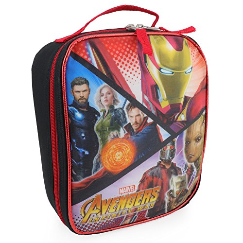 Trendy Apparel Shop Officially Licensed Avengers Infinity War Insulated Lunch Box Bag - Black