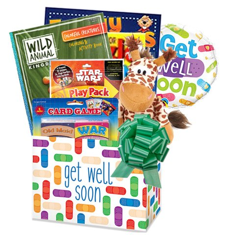 Get Well Balloon Bouquets (Gifts Fulfilled Kids Get Well Gift Box of Things to Do with Activity Books for Ages 4 to 10)