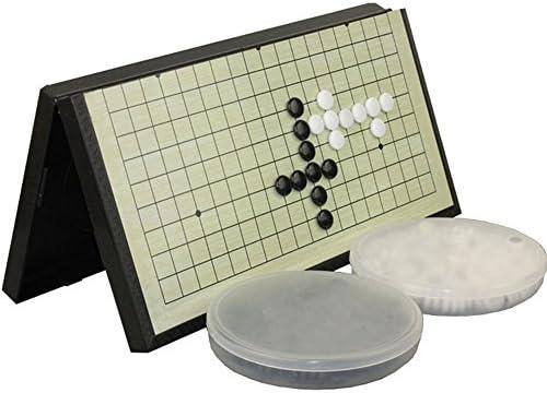 HAHAone Magnetic Go Brettspiel Plastiksteine Kinder Set, schwarz und weiß Brettspiel Spiel mit schwarzen und weißen Steinen Magnetic Travel Go Set