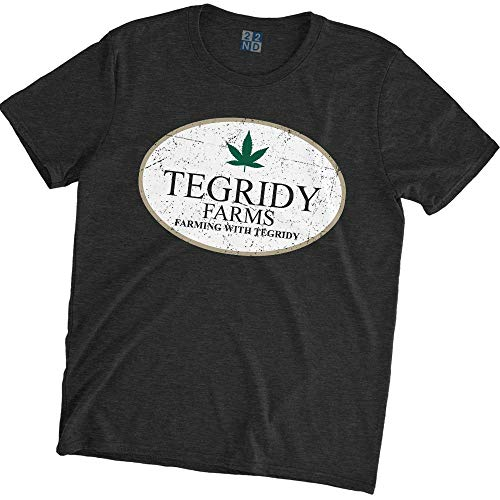 Park T-shirts South Printed - 22nd Century Movies & TV Tegridy Farms Farming with Tegridy South Park T-Shirt