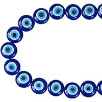 NBEADS 1 Doos (ongeveer 390 St) 4 Maten Handgemaakte Ronde Evil Eye Lampwork Beads Bedels Spacer Kralen passen Armbanden…
