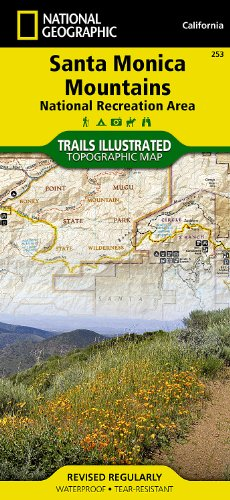 Santa Monica Mountains National Recreation Area (National Geographic Trails Illustrated - Santa Outlet Monica