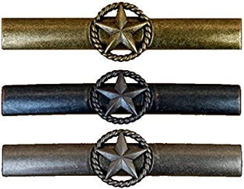 Western Drawer Pull Chrome Star Rope Hardware Handle Country Decor