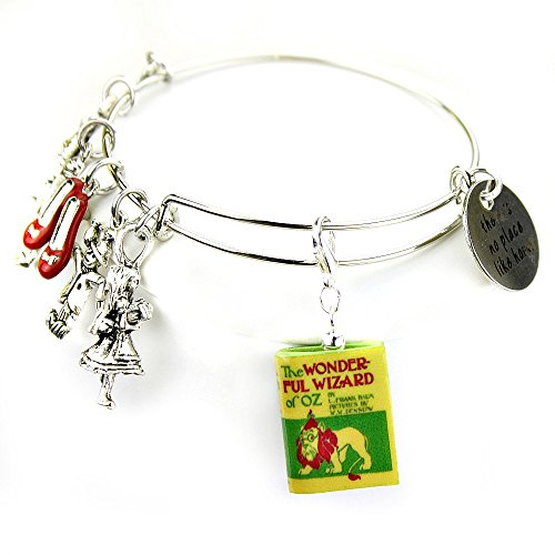 The Wonderful WIZARD OF OZ L. Frank Baum Clay Mini Book Expandable Bangle Bracelet by Book Beads
