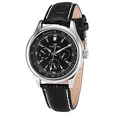 KS Black Dial Date Day 24 Hours Men 6 Hand Automatic Mechanical Wrist Watch KS097