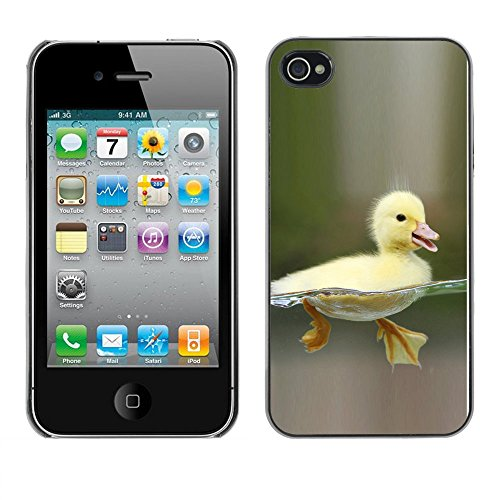 Omega Case PC Polycarbonate Cas Coque Drapeau - Apple iPhone 4 / 4S ( Happy Duckling Chick )