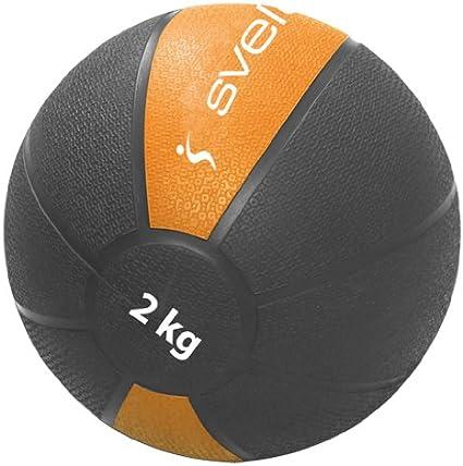 Sveltus m/édecine-Ball 2 kg Noir//Orange