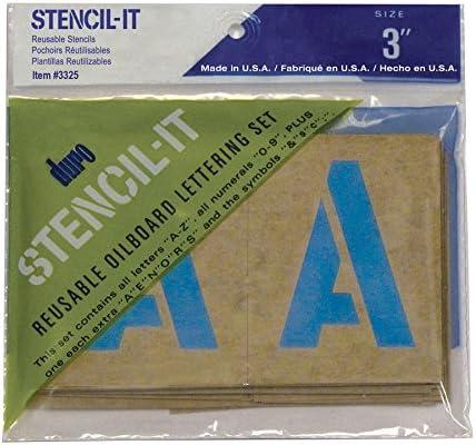 "Large Alphabet Stencils Letters 6/"" Stencil Oil Board Numbers Symbols Reusable"