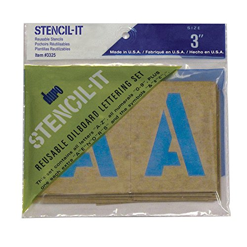 DURO by Graphic Products 3325 Stencil-It Oil Board Stencil Set, 3
