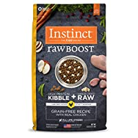 Instinct Raw Boost is a better way to feed dog food – high protein, grain free dry dog food mixed with all natural bites of freeze dried raw meat, all in one bag. With real meat as the 1st ingredient, this high protein, gluten free dog food i...
