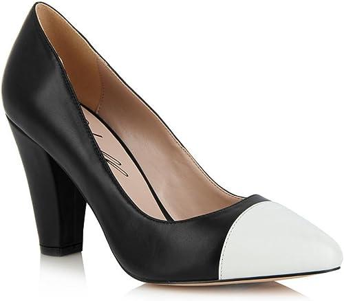Yull - Beaulieu Black White Court Shoes