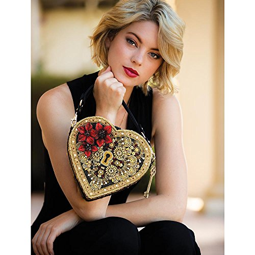 Top Handle Heart Mary Key Multi and Bag Embellished Lock Frances TZYWAwngq6