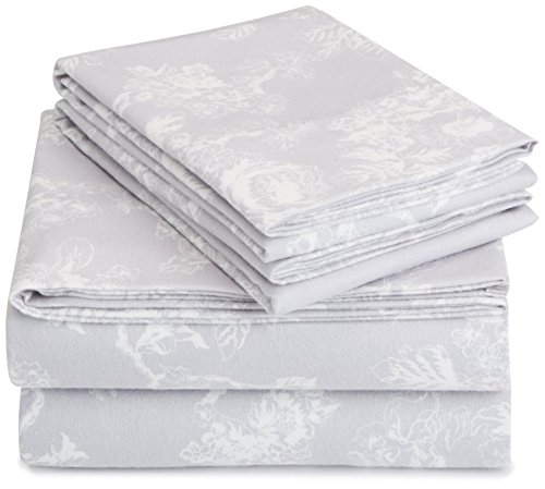 Pinzon 170 Gram Velvet Flannel Sheet Set – King, Floral Gr