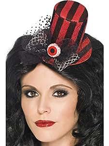 Mini sombrero negro/rojo con el ojo