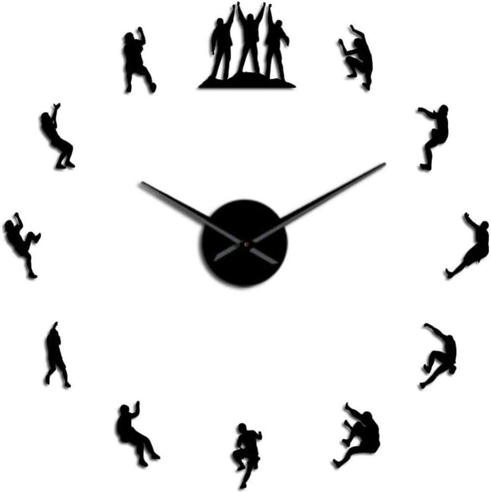 YAZCC Climber 3D DIY Reloj de Pared sin Marco Reloj Plano ...