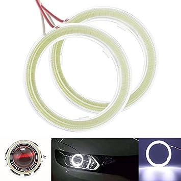 luce bianca 6500/K Taben Anello LED COB 45SMD luminoso Lampada per fari Angel Eyes diametro 60 mm 1 coppia tensione DC12/V