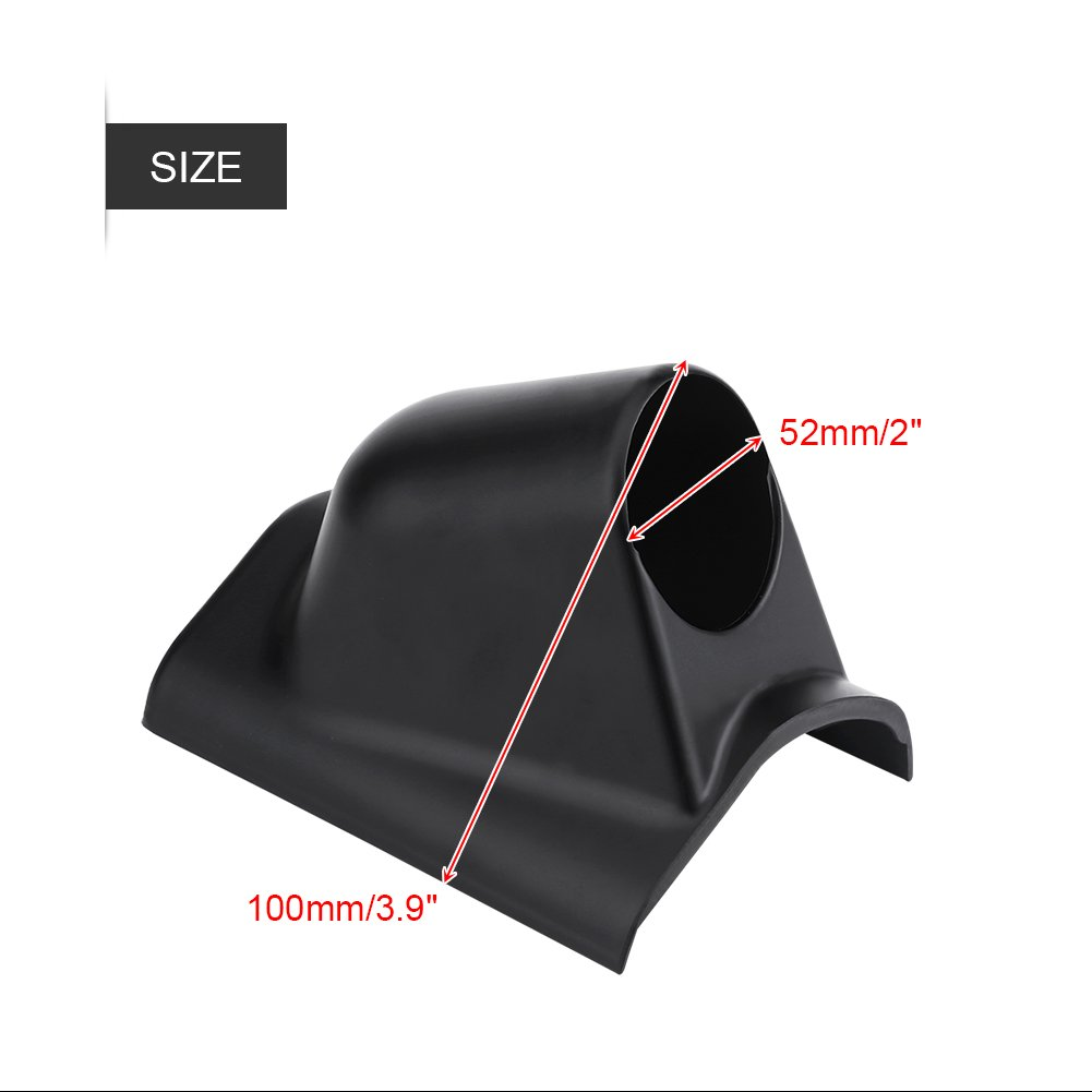 Universal Heavy Duty Car Dash Gauge Pod Mount Holder Meter Gauge Pillar for Left Driving Car Dual Hole VGEBY Pillar Gauge Mount Pod