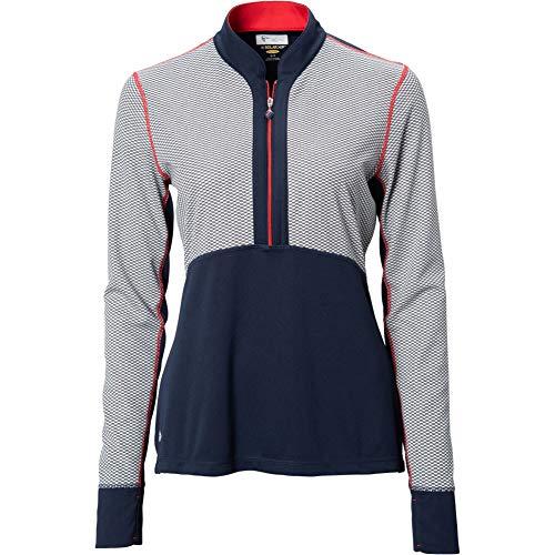 Greg Norman Allegiance L/s Zip Polo, Navy, - Shirt Golf Ls