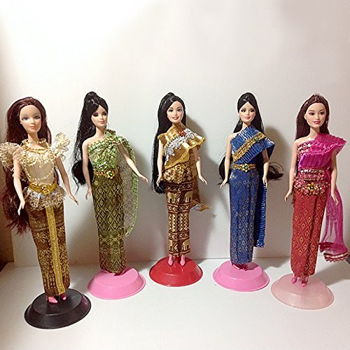 "Thailand National Costume For Children (Barbie, Doll 12"" DUSADEE Dress Clothing Thai National Outfit Handmade Costumes - Modern, Lanna or Chakri)"