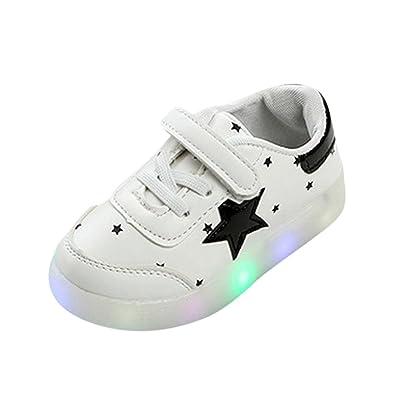 Zapatos Niño Con Luces K-youth Zapatillas de Deporte Unisex Niños Zapatos Antideslizante Pentagram Zapatos