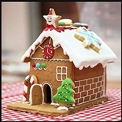 Christmas Gingerbread House Decorations.Buy Petsdelite Christmas Gingerbread House Diy 3d Mold