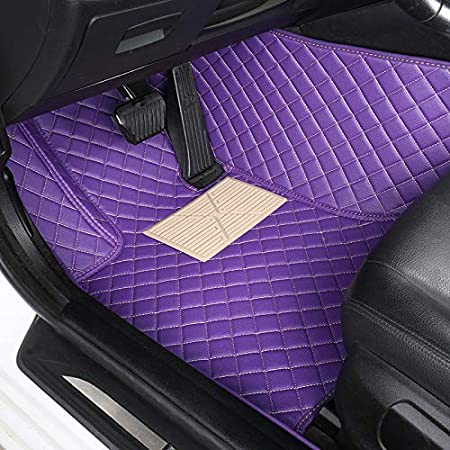 Custom Car Floor Mat Front /& Rear Liner 8 Colors with Gold Lines for Mitsubishi Lancer Red