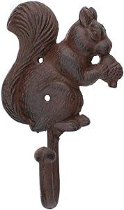 Iron Squirrel Coat Hook by Upper Deck