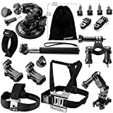 Zookki Accessories for GoPro Hero 5 4 3+ 3 2 1 Black Silver, Accessory Kit for GoPro 4 3+ 3 2 1 SJ4000 SJ5000 SJ6000, Camera Kit for Xiaomi Yi/DBPOWER/WiMiUS/SJCAM