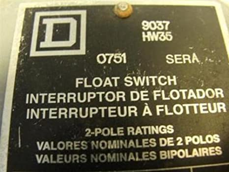 Square D 9037 closed-tank Interruptor de flotador con casquillos para circuito de alimentación, montaje lateral,, NEMA 4 Posición de flotación, derecho, ...