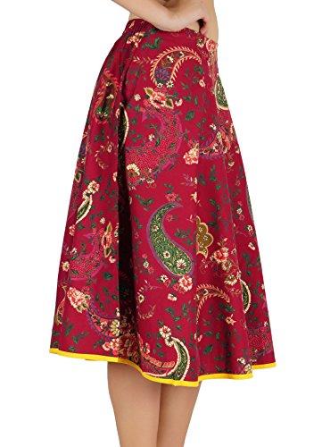 Bordeaux Jupe Courte Vêtements Hippie Imprimé Mode Kokom Coton Femmes En Été De Plage wvqHp7