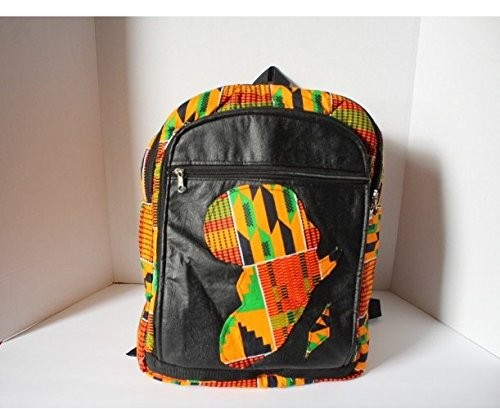 Nova AfriquX African BackPack Printed Custom PU Leather Travel School Shoulder Fabric Backpack Africa