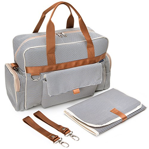 Stripe Baby Diaper Bag - 5