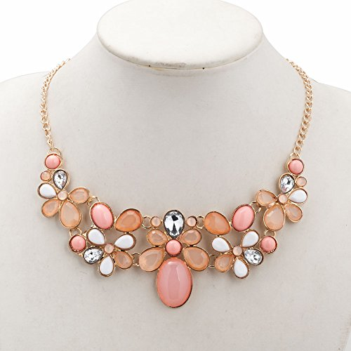CharmsStory Crystal Rhinestone Statement Necklace