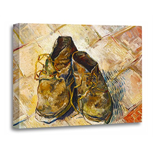 (TORASS Canvas Wall Art Print Cool Pair of Shoes Vincent Van Gogh Fine Old Artwork for Home Decor 16