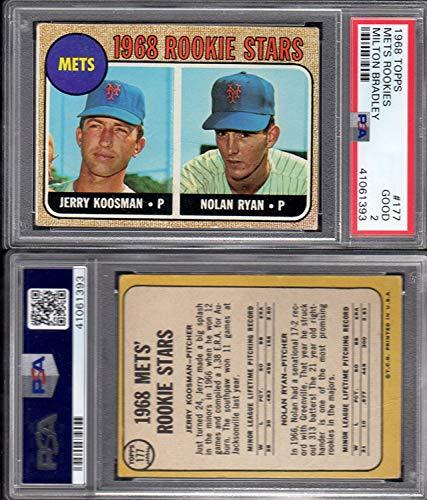 - 1968 Topps Regular (Baseball) card#177-mb Nolan Ryan/Koosman psa miltonbradley of the New York Mets Grade Good