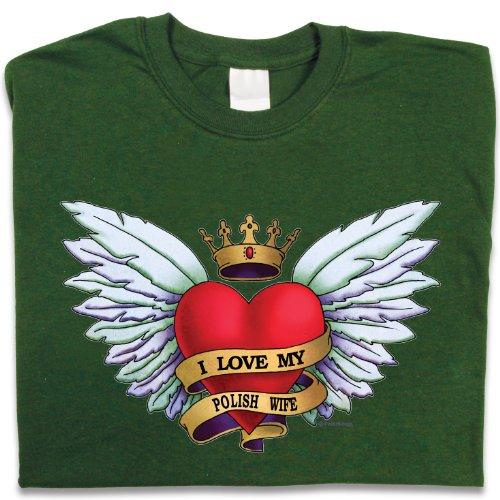 Polish Apparel Heart Tattoo, Polish Wife – T-Shirt