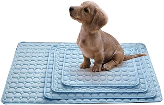 1 unid Cooling Pet Cojín Camas para Perros Summer Dog Cojines para Viajes Asiento de Coche Estera para Perros Plaid Easy Clean Dogs Supplies, Azul, 102x70cm: Amazon.es: Productos para mascotas