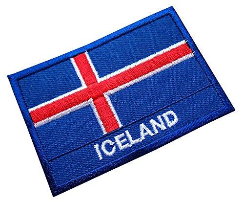 Republic of Iceland Icelander Icelandic National Flag Sew on