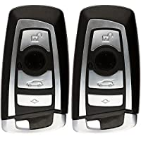 KeylessOption Keyless Entry Remote Control Car Smart Key Fob Replacement for BMW KR55WK49863 (Pack of 2)