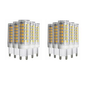 Shishanyun Bombillas LED de bajo Consumo 10X G9, 7W (50W Bombilla halógena Equivalente)