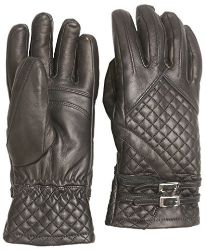 Hot Chillys HC9128 Women's Rita Leather Glove, Black - WM by Hot Chillys