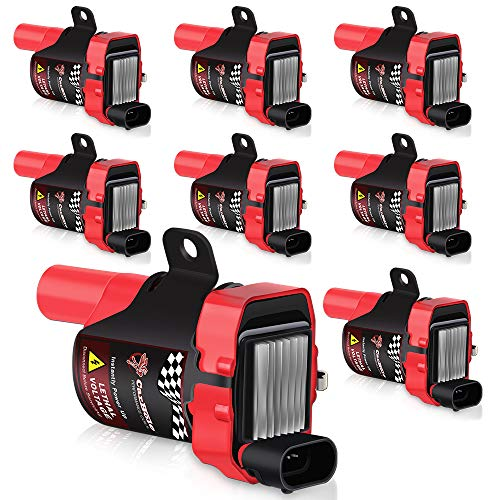 Isuzu Coil Ignition (D585 Ignition Coil ROUND TYPE 8 Pack High Energy Ignition Coil Pack for Chevrolet GMC Buick Hummer Isuzu Cadillac 4.8L 5.3L 6.0L 8.1L V8 Compatible UF262 C1251 GN10119 10457730)