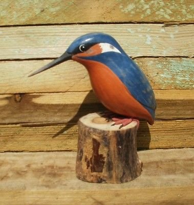 Archipeligo Wood Carving Of Kingfisher By Archipelago D188